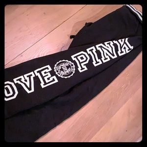 Victoria's Secret PINK joggers black and white